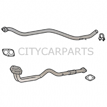 ALFA ROMEO 156 1.8 2.0 16v EXHAUST FRONT PIPE & CENTRE PIPE SILENCER INC GASKETS